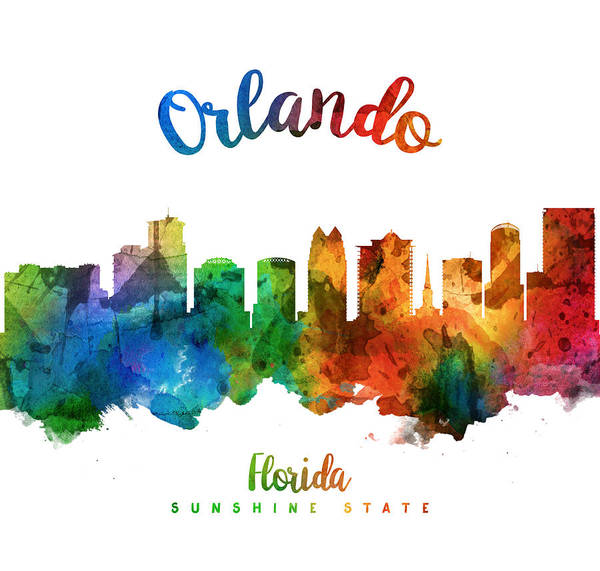 Orlando Wall Art - Painting - Orlando Florida 25 by Aged Pixel