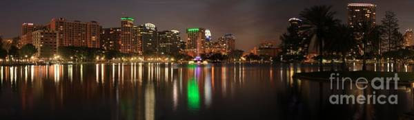 Photograph - Orlando Florida Cityscape Reflections by Adam Jewell