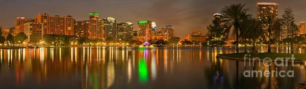 Photograph - Orlando Florida Panoramic Skyline by Adam Jewell