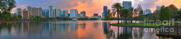 Photograph - Orlando Florida Pastel Panorama by Adam Jewell