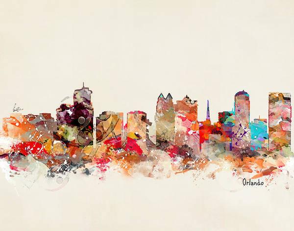 Florida Painting - Orlando Florida Skyline by Bri Buckley