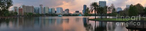 Photograph - Orlando Sunset Panorama by Adam Jewell