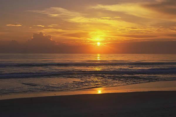 Photograph - Ormond Beach Sunrise by Herb Paynter