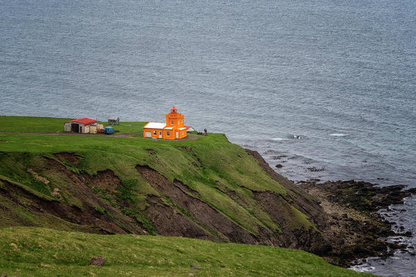 Photograph - Orange Lighthouse by Tom Singleton