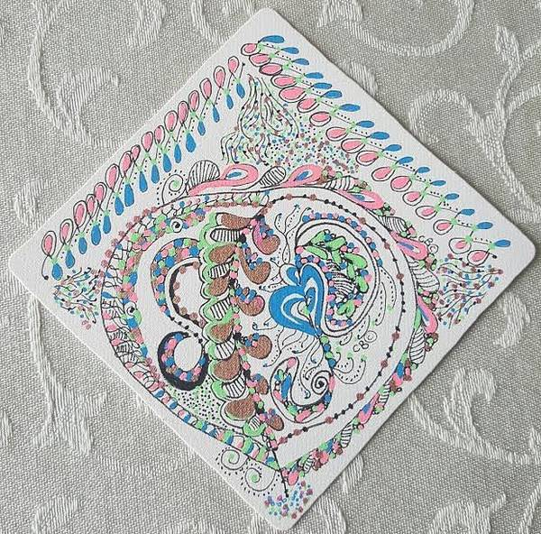 Drawing - Ornament by Carole Breccht