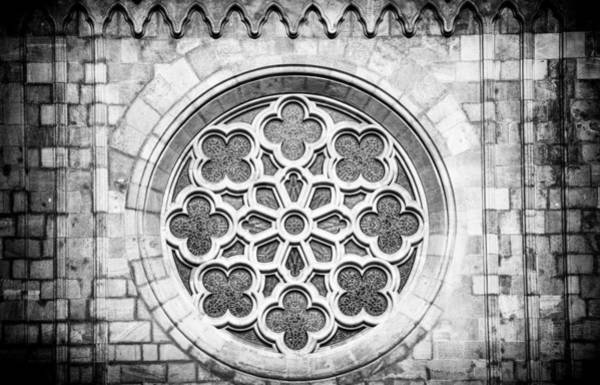Photograph - Ornament Church Window Black And White by Matthias Hauser