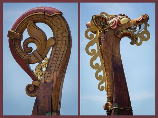 Dragon Boats Wall Art - Photograph - Ornamental Dragon Diptych by Dale Kincaid