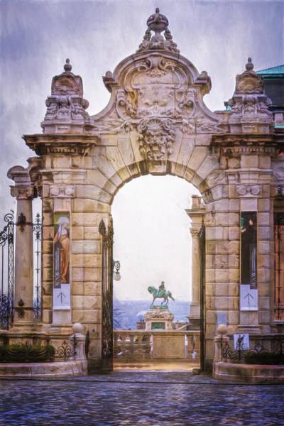 Buda Photograph - Ornamental Gateway Buda Castle by Joan Carroll