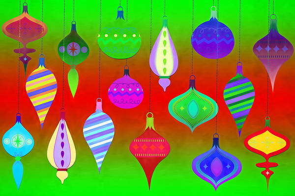 Christmas Season Wall Art - Digital Art - Ornamental by Steve Ohlsen
