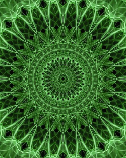 Digital Art - Ornamented Mandala In Green Tones by Jaroslaw Blaminsky