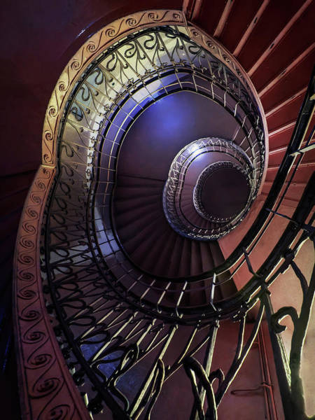 Wall Art - Photograph - Ornamented Metal Spiral Staircase by Jaroslaw Blaminsky