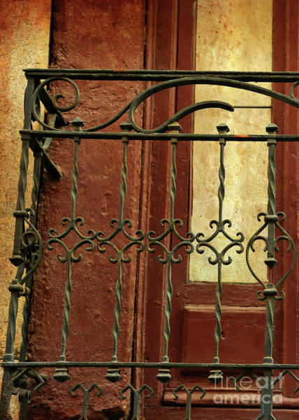 Wall Art - Photograph - Ornate Balcony With Textures And Light by Carol Groenen