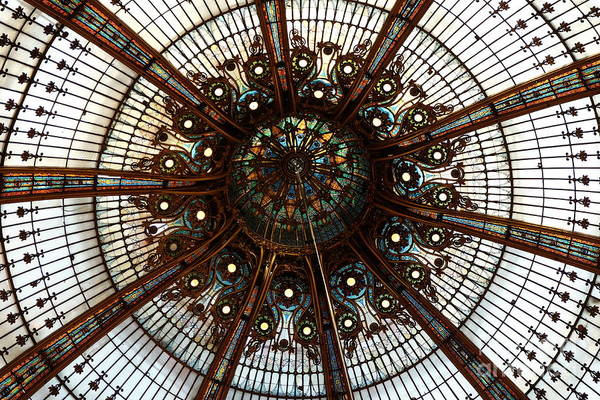 Galeries Lafayette Photograph - Ornate Ceiling by Mini Arora