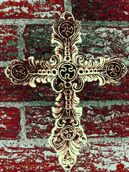 Photograph - Ornate Cross 1 by Angelina Tamez