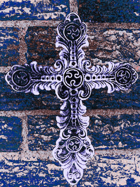 Photograph - Ornate Cross 2 by Angelina Tamez