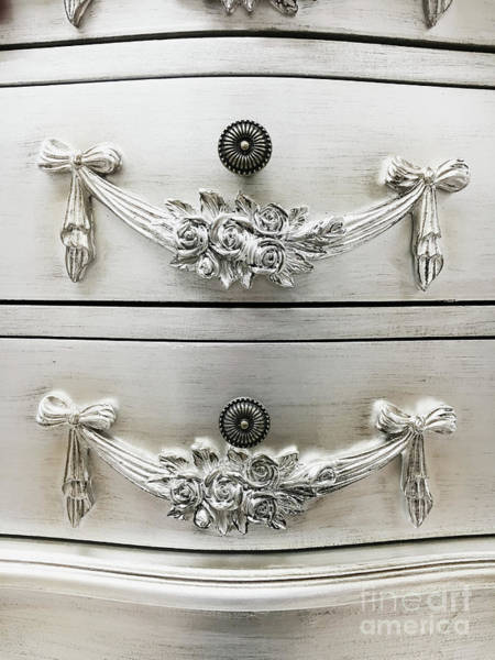 Wall Art - Photograph - Ornate Drawer Handles by Tom Gowanlock