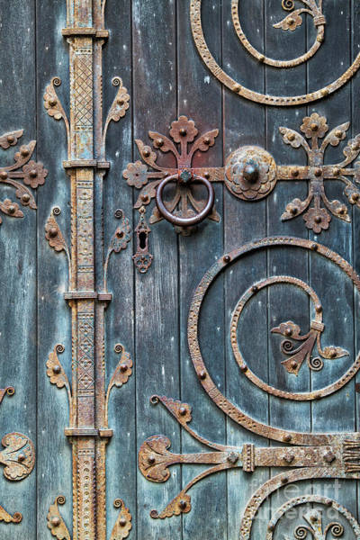 Ironwork Wall Art - Photograph - Ornate Gothic Door by Tim Gainey
