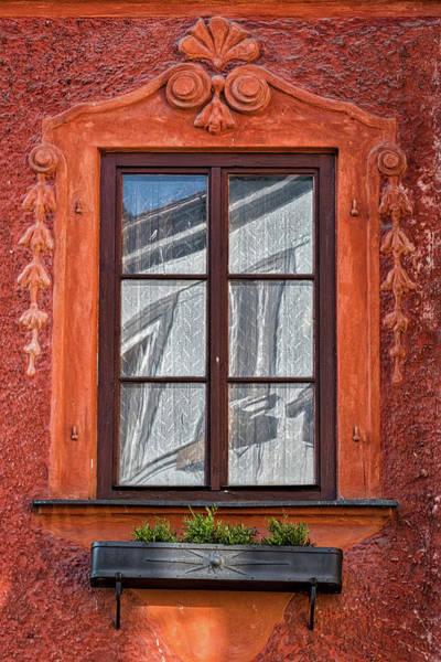 Photograph - Ornate Window Reflection - Czechia by Stuart Litoff