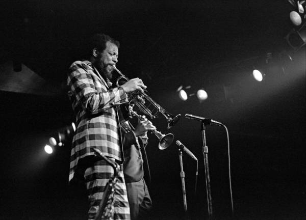 Photograph - Ornette Coleman On Trumpet by Lee Santa