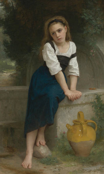 Painting - Orphan At The Fountain by William-Adolphe Bouguereau