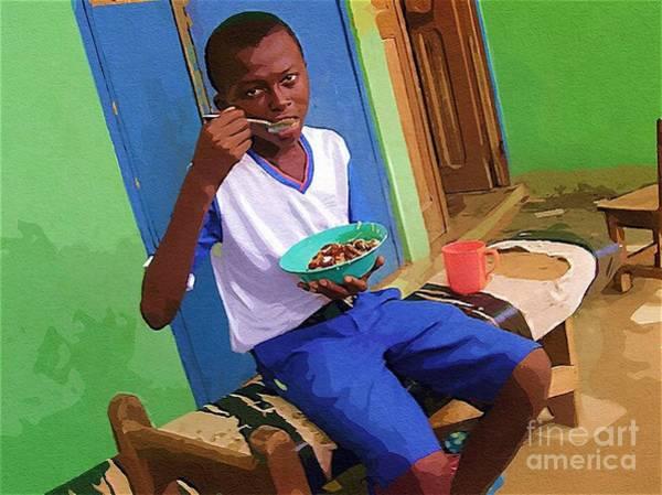 Ghana Painting - Orphan Boy by Deborah Selib-Haig DMacq