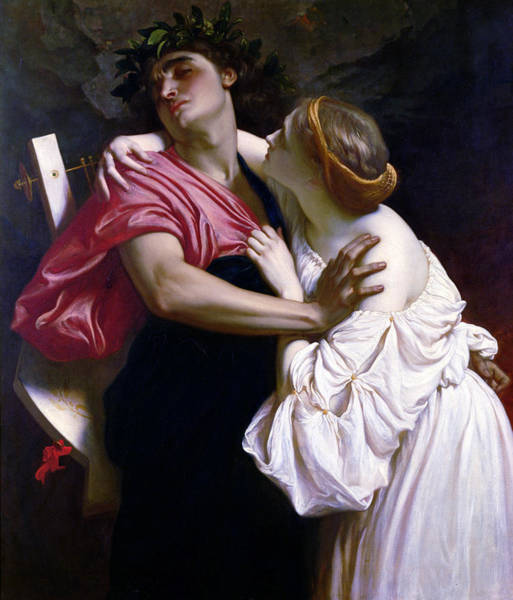 Wall Art - Painting - Orpheus And Euridice by Frederic Leighton