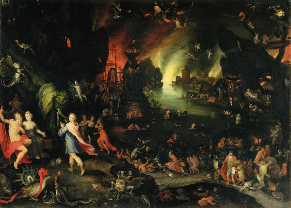 The Elder Painting - Orpheus Sings For Pluto And Proserpina by Jan Brueghel the Elder