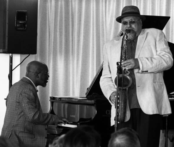 Photograph - Orrin Evans And Joe Lovano 2 by Lee Santa