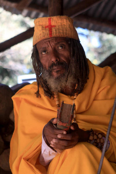 Photograph - Orthodox Christian Priest , Lake Tana, Ethiopia by Aidan Moran