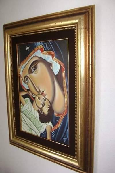 Ortodox Wall Art - Painting - Ortodox Icon - Holy Mary With Baby Chesus by Danijela Vuksanovic