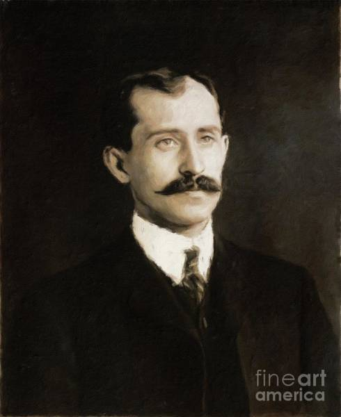 Poetry Painting - Orville Wright, Inventor By Mary Bassett by Mary Bassett