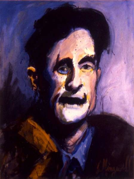 Painting - Orwell by Les Leffingwell