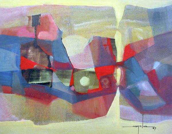Bolivia Painting - Os1957bo003 Abstract Landscape Potosi 23.75x18.25 by Alfredo Da Silva