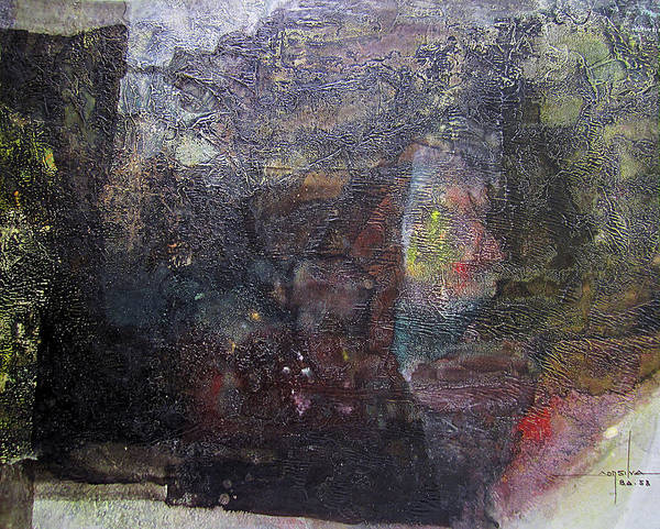 Abstractionism Painting - Os1958ar006ba Abstract Landscape Of Potosi Bolivia 23.6 X 30.3 by Alfredo Da Silva