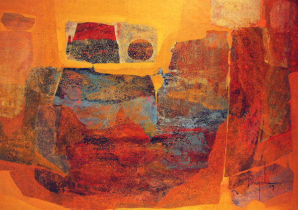 Abstractionism Painting - Os1959ar002 Mitoformas Buenos Aires 25x17.5 by Alfredo Da Silva