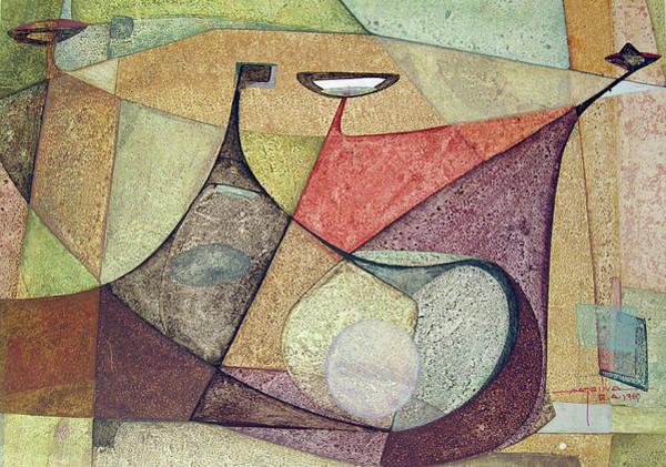 Bolivia Painting - Os1960ar001ba Abstract Design 16.75x11.5 by Alfredo Da Silva
