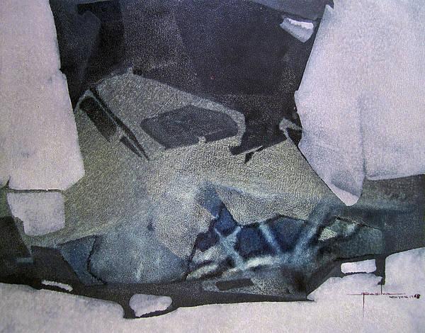 Wall Art - Painting - Os1968ny001 Abstract Forms Potosi Bolivia 17 X 22 by Alfredo Da Silva