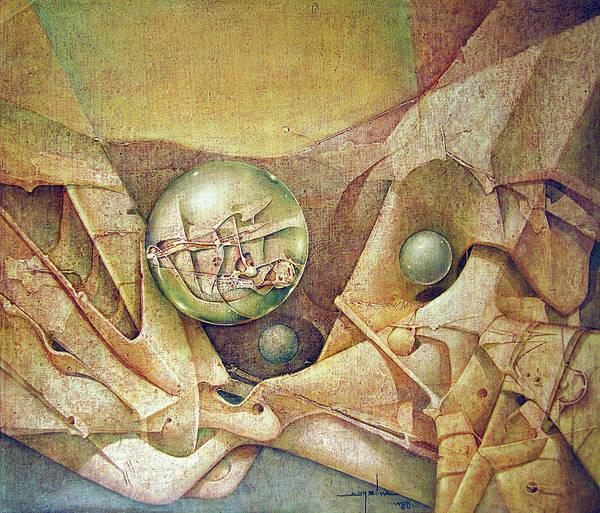 Wall Art - Painting - Os1980dc001 Celestial Globe No.1 28.25x24 by Alfredo Da Silva