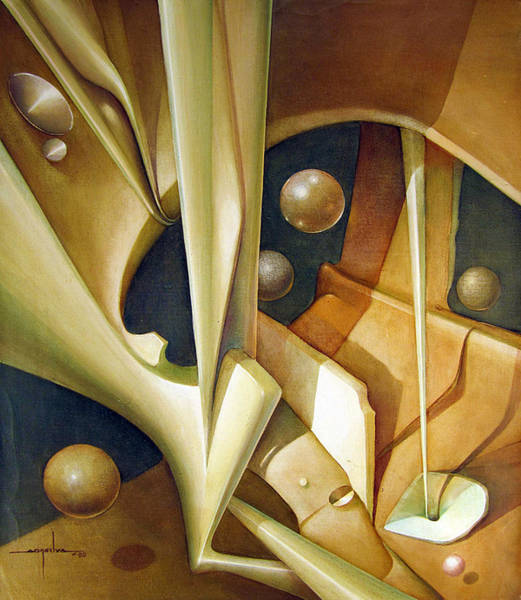 Abstractionism Painting - Os1980dc007 Celestial Globe No.7 24x28.25 by Alfredo Da Silva