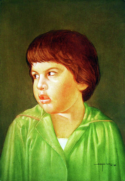 My Son Painting - Os1980dc009 My Son Lorenzo 13x19 by Alfredo Da Silva