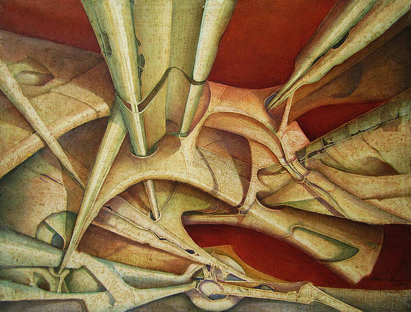 Wall Art - Painting - Os1985dc001 Dynamic Shapes 19.75x25.5 by Alfredo Da Silva