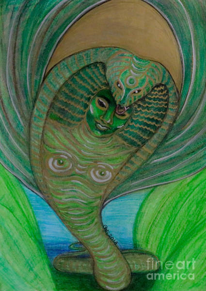 Art Print featuring the drawing Wadjet Osain by Gabrielle Wilson-Sealy