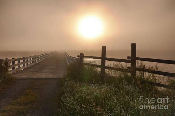 Wall Art - Photograph - Osborne Bridge In Fog by Idaho Scenic Images Linda Lantzy