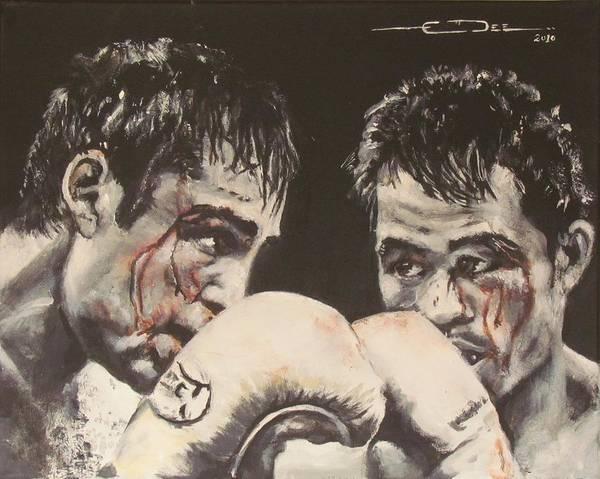Painting - Oscar De La Hoya Vs Manny Pacquiao by Eric Dee