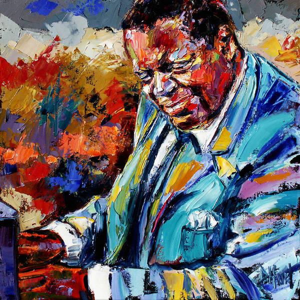 Piano Music Painting - Oscar by Debra Hurd