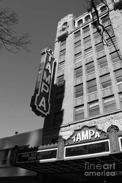 Photograph - Oscar Night At Tampa Theatre - Black And White by Carol Groenen
