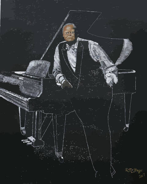 Painting - Oscar Peterson by Richard Le Page
