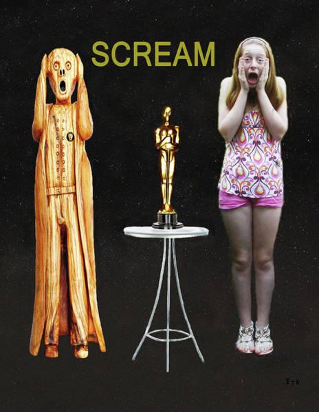 Mixed Media - Oscar Scream by Eric Kempson