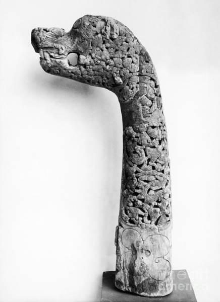 Photograph - Oseberg Carving by Granger