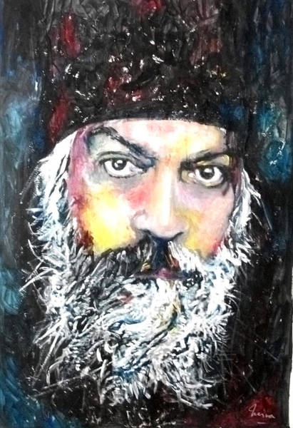 Brain Painting - Osho by Marcelo Neira